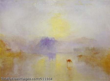 Norham Castle, Sunrise c. 1835-40; Oil on canvas, 78 x 122 cm; Clore Gallery for the Turner Collection, London