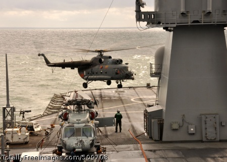 100917-N-5483N-033 BALTIC SEA (Sept. 17, 2010) A Lithuanian MI-8 (Hip) military utility helicopter lands aboard the amphibious assault ship USS Mount Whitney (LCC/JCC 20) during deck landing qualification training as part of exercise Jackal Stone 2010 (JS10). JS10 is a 10-day special operations exercise intended to promote cooperation and interoperability between participating forces from Croatia, Latvia, Lithuania, Poland, Romania, Ukraine, and the United States. (U.S. Navy photo by Mass Communication Specialist 2nd Class Sylvia Nealy/Released)