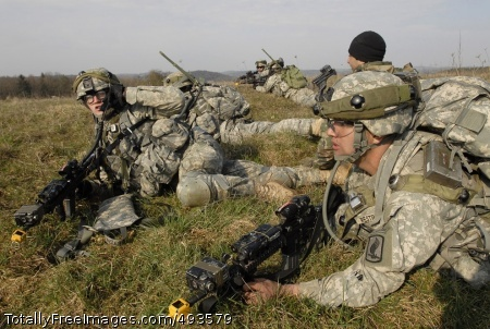 Combat Training in Soldiers provide security after dismounting a CH-47 Chinook helicopter. Photo Credit: May 11, 2007