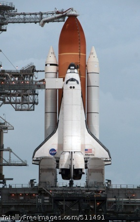 CAPE CANAVERAL, Fla. - The Space Shuttle Alantis sits on the launch pad at Kennedy Space Center in preparation for its final launch July 8.