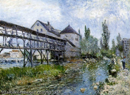 Provencher's Mill at Moret 1883 (230 Kb); Oil on canvas, 54 x 73 cm; Museum Boymans-van Beuningen, Rotterdam