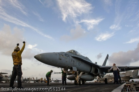 110430-N-DR144-696 ARABIAN SEA (April 30, 2011) An F/A-18C Hornet assigned to Strike Fighter Squadron (VFA) 25 is positioned on catapult No. 4 aboard the Nimitz-class aircraft carrier USS Carl Vinson (CVN 70). Carl Vinson and Carrier Air Wing (CVW) 17 are conducting maritime security operations and close-air support missions in the U.S. 5th Fleet area of responsibility. (U.S. Navy photo by Mass Communication Specialist 2nd Class James R. Evans/Released)
