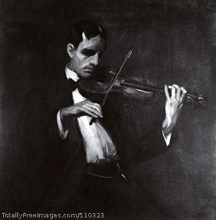 Violinist, Will Bradner Artist: Sloan, John, 1871-1951, painter. Medium: Oil on canvas. Smithsonian Control Number: IAP 08080051