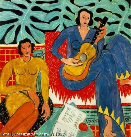 La Musique 1939 (180 Kb); Oil on canvas, 115.2 x 115.2 cm (45 3/8 x 45 3/8 in); Albright-Knox Art Gallery, Buffalo, NY