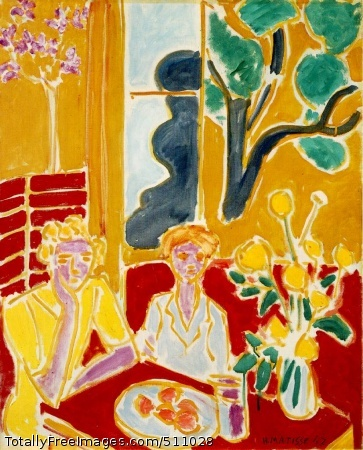 Deux fillettes, fond jaune et rouge (Two Girls in a Yellow and Red Interior) 1947 (160 Kb); Oil on canvas, 61 x 49.8 cm (24 x 19 3/8 in); Barnes Foundation, Merion, PA