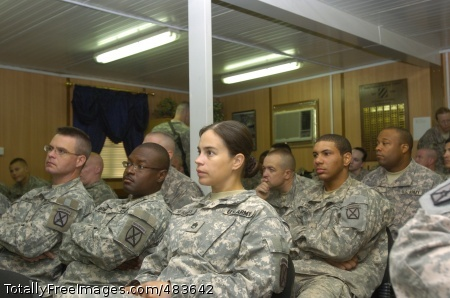Training 2 Soldiers from MND-C attend the Deployment Enrichment Training at Honor Chapel on Camp Victory July 11.  Photo Credit: Jul 15, 2008