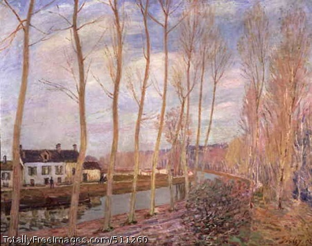The Canal of Loing at Moret 1892; Musée d'Orsay, Paris