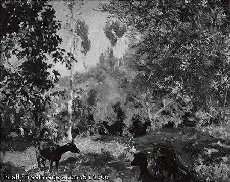 Landscape with Goats Artist: Sargent, John Singer, 1856-1925, painter. Medium: Oil on canvas. Smithsonian Control Number: IAP 08350055
