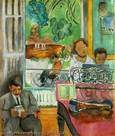 La leçon de musique (The Music Lesson) 1917 (160 Kb); Oil on canvas, 244.7 x 200.7 cm (96 3/8 x 79 in); Barnes Foundation, Merion, PA