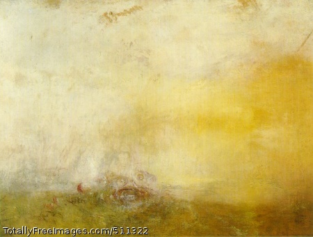 Sunrise with Sea Monsters c. 1845; Oil on canvas, 91.5 x 122 cm; Tate Gallery, London