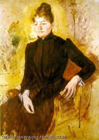 Woman in Black (Femme en noir) c. 1882 (180 Kb); Oil on canvas, 100.6 x 74 cm (39 3/4 x 29 in)