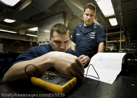 110106-N-2055M-010  PACIFIC OCEAN (Jan. 6, 2011) Aviation Electrician's Mate Airman Matthew Gallegos, assigned to Aircraft Intermediate Maintenance Division, performs a test on an engine throttle grip inside an intermediate maintenance shop aboard the aircraft carrier USS Carl Vinson (CVN 70). Carl Vinson and Carrier Air Wing (CVW) 17 are on a deployment to the U.S. 7th Fleet area of responsibility. (U.S. Navy photo by Mass Communication Specialist 3rd Class Travis K. Mendoza/Released)