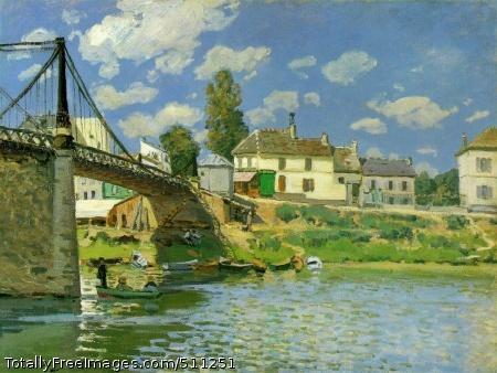 Bridge at Villeneuve-la-Garenne 1872 (170 Kb); Oil on canvas, 49.5 x 65.4 cm; Metropolitan Museum of Art, New York