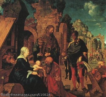 The Adoration of the Magi 1504 (60 kB); Oil on wood; Uffizi