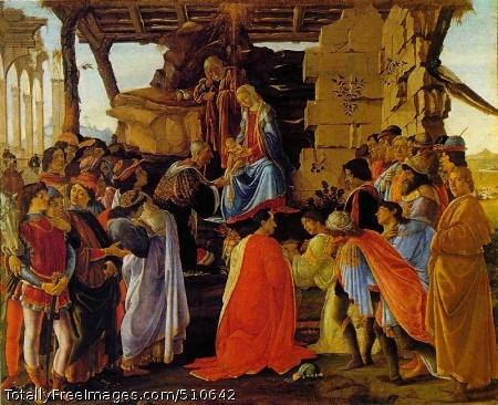 The Adoration of the Magi 1470-75; Tempera on panel; 111 x 134 cm; Galleria degli Uffizi, Florence