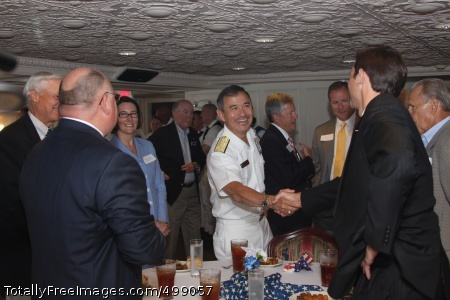 110615-N-NT881-036  CHATTANOOGA, Tenn. (June 16, 2011) Vice Adm. Harry B. Harris Jr., commander of U.S. 6th Fleet, greets Chamber of Commerce members during a reception on the Delta Queen River Boat during Chattanooga Navy Week, one of 21 Navy Weeks planned across America this year. Navy Weeks are designed to show Americans the investment they have made in their Navy as a Global Force for Good and increase awareness in cities that do not have a significant Navy presence. (U.S. Navy photo by Chief Mass Communication Specialist Steve Carlson/Released)