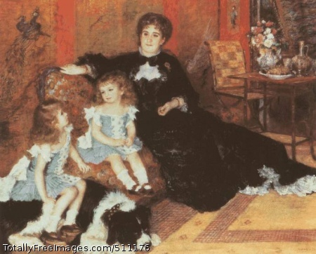 Madame Charpentier and Her Children Paul (at her knee) and Georgette 1878; Proust compared it with `Titian at his best'.