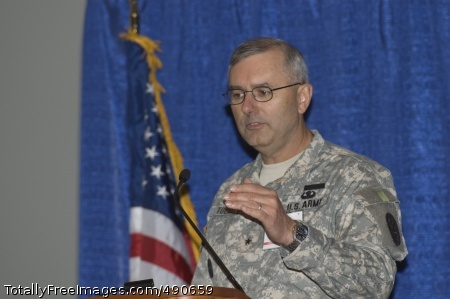 Warrior Transition Brig. Gen. Mike Tucker addresses members of the Association of the U.S. Army Oct. 8 during a panel discussion on the Army Medical Action Plan. Photo Credit: Oct 8, 2007