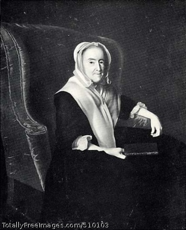 Mrs. John Powell (Anna Susan Dummer) (1684-1764) Three-quarter-length seated portrait of Mrs. John Powell holding a book in her right hand. Her left arm rests on the arm of the chair. She faces right, but turns and looks at the viewer. Artist: Copley, John Singleton, 1738-1815, painter. Medium: Oil on canvas. Smithsonian Control Number: IAP 07260696