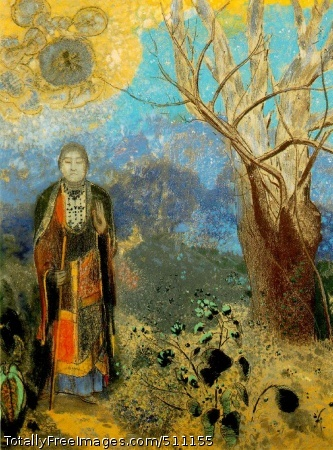 Le Bouddha (The Buddha) c. 1905 (220 Kb); Pastel on paper, 98 x 73 cm (35 1/2 x 28 3/4 in); Musee d'Orsay, Paris