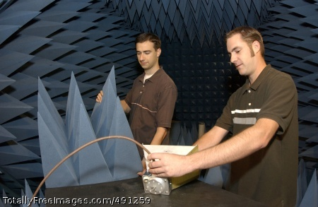 DA provides career Engineering majors with the SCEP program work in CERDEC's anechoic chamber. Photo Credit: Sep 25, 2007