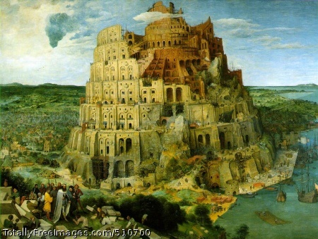 The Tower of Babel 1563 (200 Kb); Oil on oak panel, 114 x 155 cm; Kunsthistorisches Museum Wien, Vienna