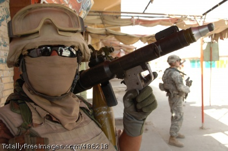 Iraqi Peacekeeper An Iraqi soldier poses for a picture during a combined mission with U.S. Soldiers in Mahmudiyah. Photo Credit: May 9, 2008