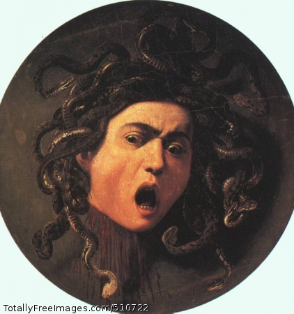 Medusa after 1590; Oil on canvas mounted on wood; Uffizi