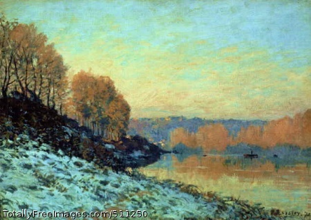 The Seine at Bougival in Winter 1872; Museum of Fine Arts, Lille