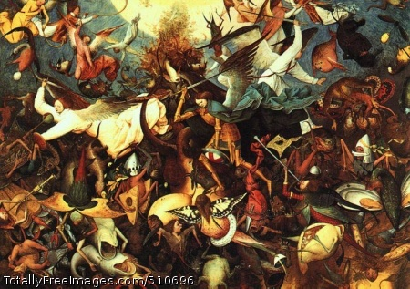 The Fall of the Rebel Angels (110 Kb); Oak; Musée des Beaux-Arts at Brussels