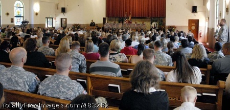 Service remembers, Soldiers, families, friends, colleagues and members of the Vicenza, Italy community attend a memorial service at the Caserma Ederle chapel there July 18 in honor of nine Soldiers from Chosen Company, 2nd Battalion, 503rd Infantry killed in combat in Afghanistan July 13.  Photo Credit: Jul 23, 2008