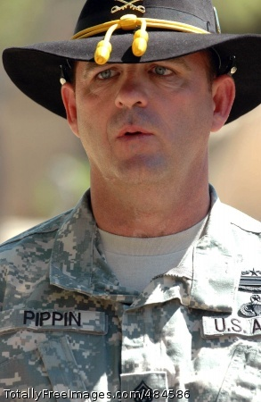 Command Sgt. Maj. James Pippin, command sergeant major of the 3rd 'Greywolf' Brigade Combat Team, 1st Cavalry Division participated in a change of responsibility ceremony held on the Greywolf field at Fort Hood, Texas July 16. The ceremony was in honor of Pippin's arrival to the 3rd BCT where he plans to focus on five essential Soldier tasks and skills to prepare the brigade for deployment this winter. Photo Credit: Jun 19, 2008