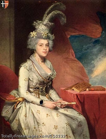 Mrs. Josef de Jaudenes y Nebot (Matilda Stoughton) (1778-after 1822) Portrait of Matilda Stoughton Jaudenes seated beside a table, on which there are two book. She is dressed in typical Hispanic costume accessories --she wears diamond hairpins and a feathered hat, gold chains around her waist, and in her hands she holds an ivory fan. Artist: Stuart, Gilbert, 1755-1828, painter. Medium: Oil on canvas. Smithsonian Control Number: IAP 36120062