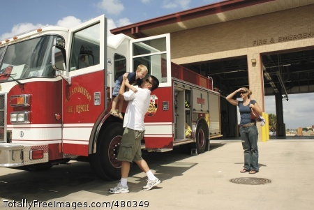 Fire Department The Lewis Family checks out Fire Engine No. 1 during the Fort Sam Houston Emergency Service Fire Prevention Week Open House Oct. 11 at the fire station here. A variety of emergency vehicles were on display including an ambulance and military police car. Photo Credit: Oct 16, 2008