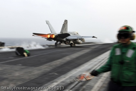 110629-N-EE987-056 ARABIAN SEA (June 29, 2011) An F/A-18C Hornet assigned to the Death Rattlers of Marine Fighter Attack Squadron (VMFA) 323 catapults from the aircraft carrier USS Ronald Reagan (CVN 76). Ronald Reagan and Carrier Air Wing (CVW) 14 are deployed to the U.S. 5th Fleet area of responsibility conducting close-air support missions as part of Operation Enduring Freedom. (U.S. Navy photo by Mass Communication Specialist 3rd Class Shawn J. Stewart/Released)