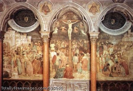 Crucifixion 1376-79; Fresco, 840 x 280 cm; Basilica di Sant'Antonio, Padua