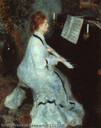 Lady at the Piano 1875 (40 Kb); Art Institute of Chicago