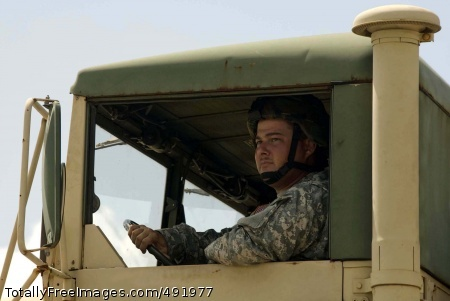 Hurricane Dean A Soldier of the Texas Army National Guard prepares to move out in a convoy headed for the Rio Grande Valley to help with the possible evacuation of residents in advance of Hurricane Dean Aug. 20.  Photo Credit: Aug 22, 2007