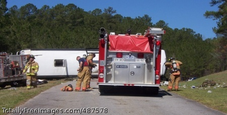 Phenomenal effort Fort Rucker and Wiregrass area firefighters respond to a bus accident at Mateson Range Sunday, March 9. Thanks to the community response effort, within one hour of the accident, all 23 wounded Marines on board had been taken to local medical facilities. Photo Credit: Mar 13, 2008
