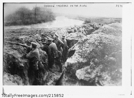 German Trenches on the Aisne 