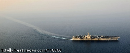 101026-N-6003P-224 ARABIAN GULF (Oct. 27, 2010) The aircraft carrier USS Harry S. Truman (CVN 75) transits the Arabian Gulf during afternoon flight operations. The Harry S. Truman Carrier Strike Group is deployed supporting maritime security operations and theater security cooperation efforts in the U.S. 5th Fleet area of responsibility. (U.S. Navy photo by Mass Communication Specialist 2nd Class Kilho Park/Released)