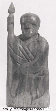 Soldier, (sculpture). Artist: Barela, Patrocinio, 1908-1964, sculptor. Medium: Carved cedar. Smithsonian Control Number: IAS 75000295