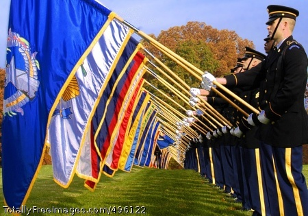 Salute to Veterans The 3rd U.S. Infantry (The Old Guard) performs at a Veterans Day ceremony at Fort Myer's Whipple Field. Photo Credit: Nov 13, 2006