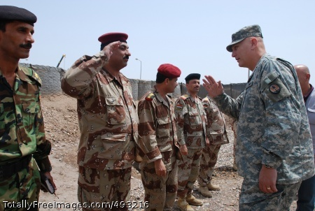 Time, Patience Lt. Gen. Ray Odierno greets Iraqi Soldiers during his visit to Contingency Operating Base Basra, Iraq, April 26. Photo Credit: Jun 1, 2007