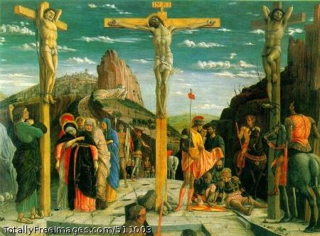 Calvary 1457-60 (240 Kb); Wood, 76 x 96 cm (30 x 38 in); Musee du Louvre, Paris