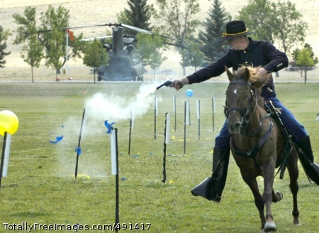 High Plains Troopers Following the ceremony, the troopers display their sharpshooter skills. Photo Credit: Sep 19, 2007