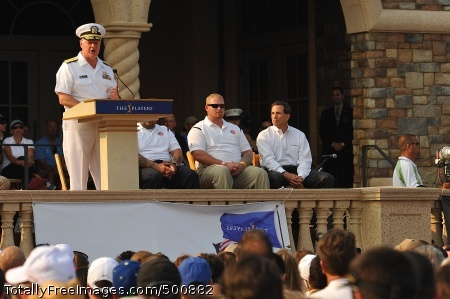 110511-N-YR391-008 PONTE VEDRA BEACH, Fla. (May 11, 2011) Chief of Naval Operations Adm. Gary Roughead delivers remarks during Military Appreciation Day at The Players Championship 2011. The ceremony was a salute honoring military members and their families. (U.S. Navy photo by Mass Communication Specialist 2nd Class Gary Granger Jr./Released)