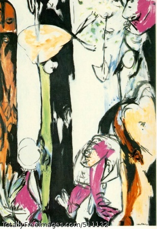 Easter and the Totem 1953 (150 Kb); Oil on canvas, 84 1/4 x 58 in; The Museum of Modern Art, New York