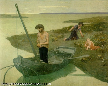 "The Poor Fisherman 1881 (130 Kb); Oil on canvas, 155 x 192.5 cm (5' 1"" x 6' 3 3/4""); Musee d'Orsay, Paris"