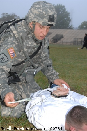 Best Warriors Competitor Sgt. Martin Jensen conducts detainee operations during the 2007 Department of the Army Noncommissioned Officer/Soldier of the Year Competition Oct. 4 at Fort Lee, Va. Photo Credit: Oct 4, 2007